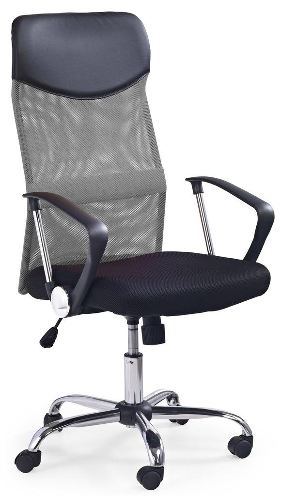 Halmar krzesło obrotowe VIRE szary czarny SIATKA
