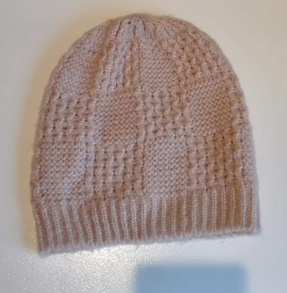 Zestaw czapka + szalik, różowe
