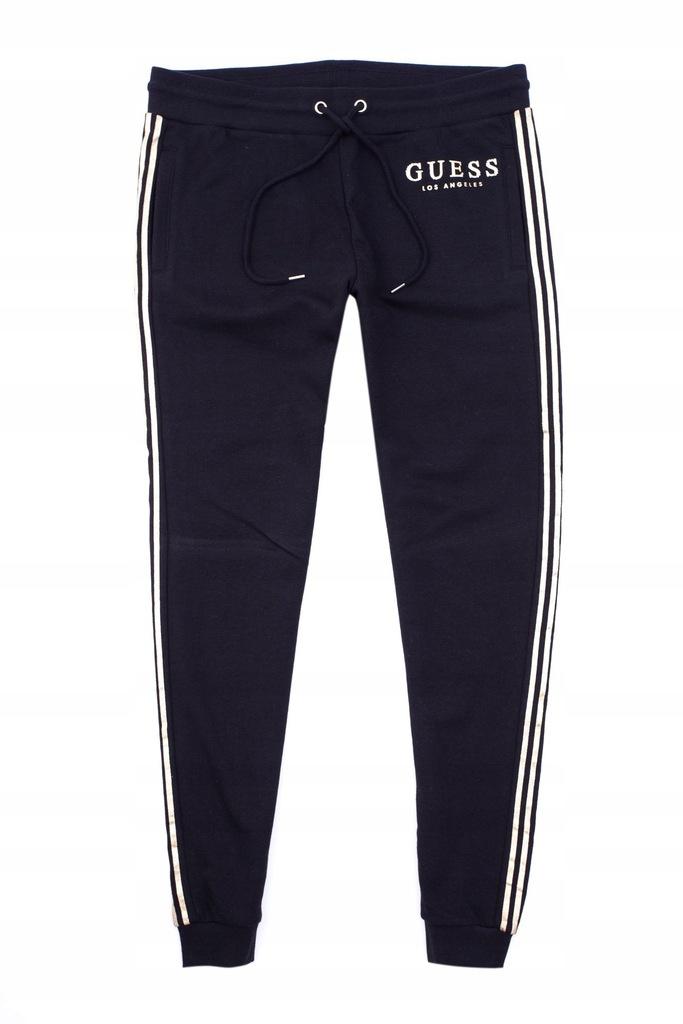 GUESS Spodnie damskie dresowe dresy Logo rozm. S