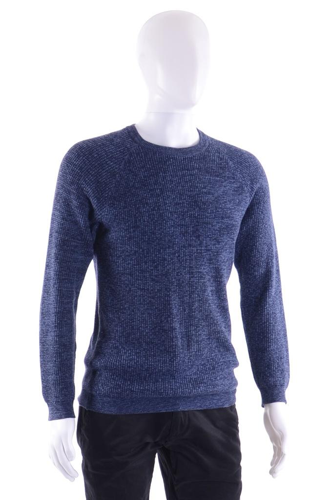 NEXT melanżowy sweter męski granatowy S