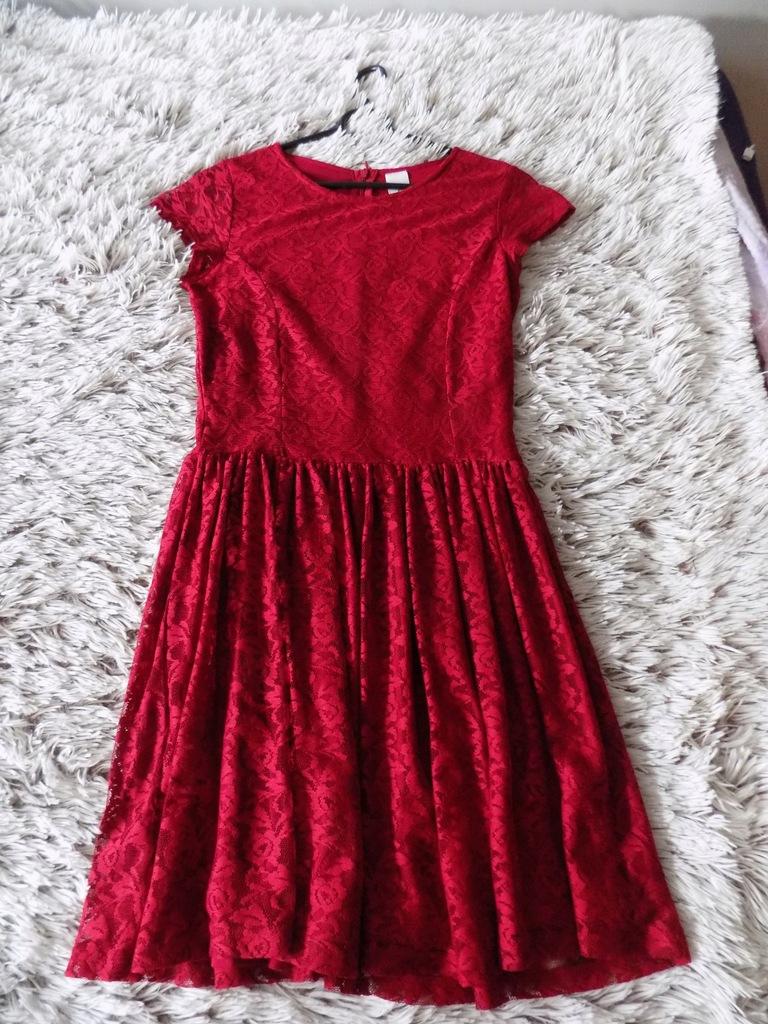 Sukienka koronkowa C&A 164cm jak nowa