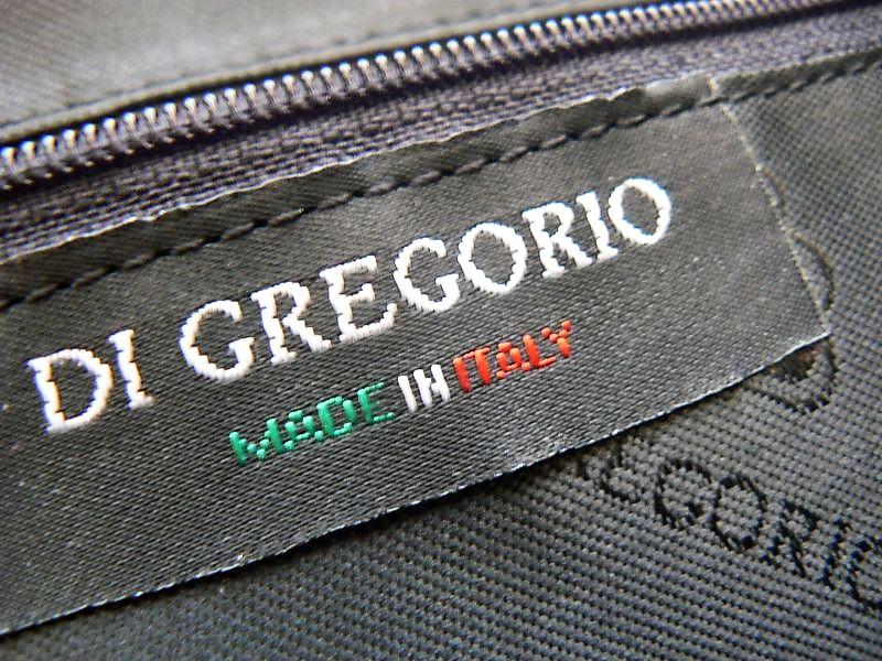 DI GREGORIO MADE in ITALY czarna TOREBKA SKÓRZANA