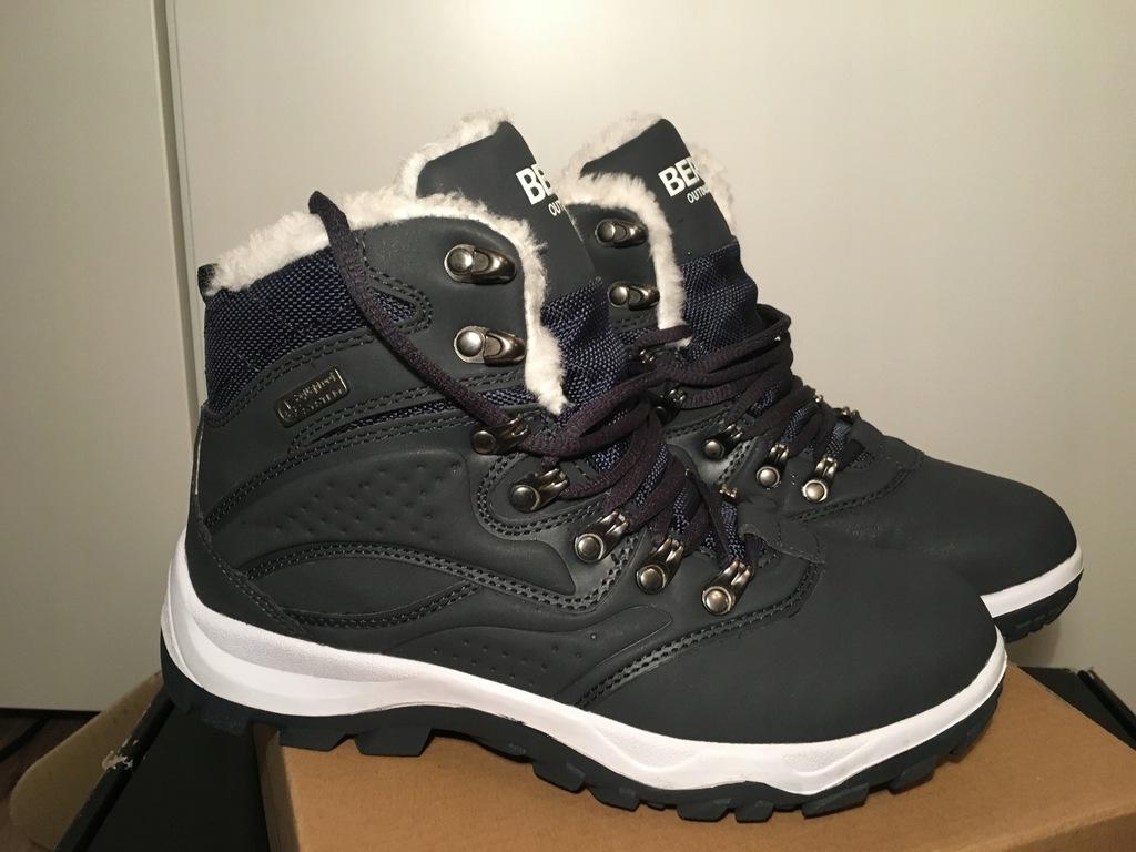 Ocieplane buty zimowe Lara Berg Outdoor Damskie Granatowe