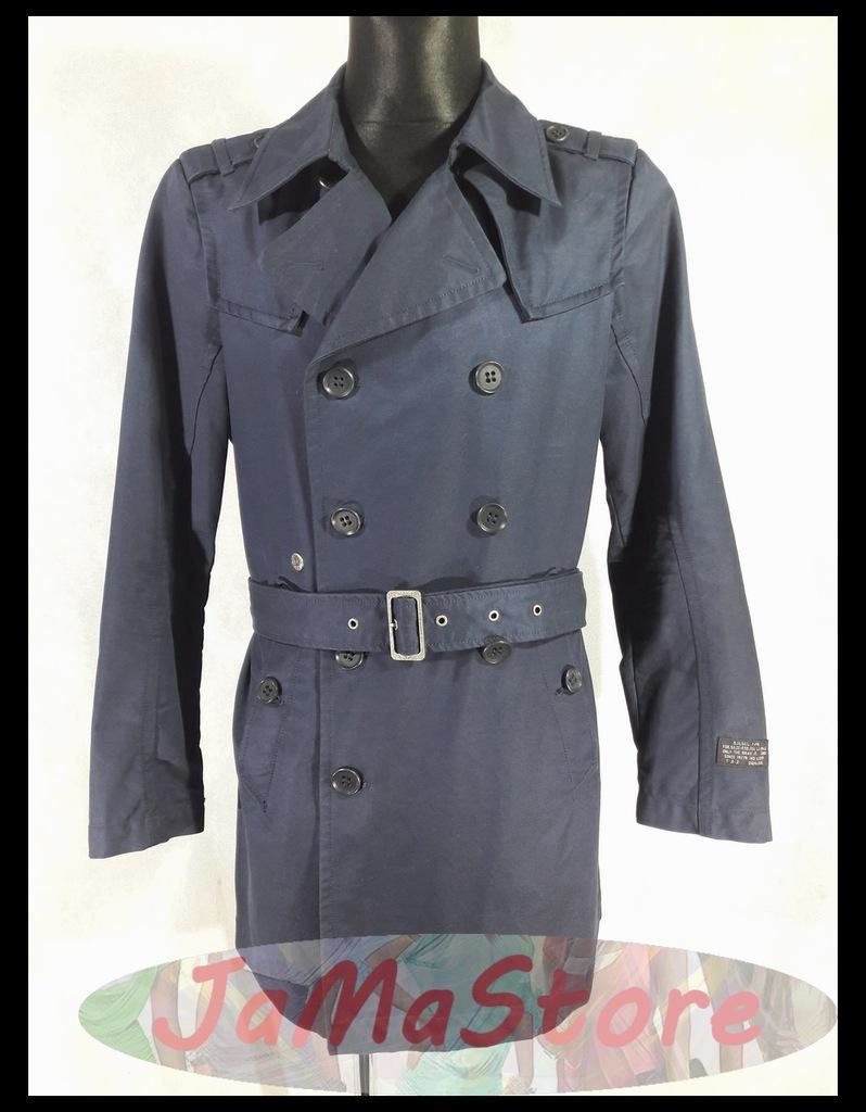 Diesel Klasyczny Płaszcz Męski wiosenny Trencz M