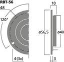 głosnik wstegowy RBT-56 IMG STAGE LINE nowość Konstrukcja trójdrożne