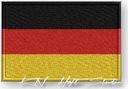 NASZYWKA - termo - Flaga Niemcy, Germany -  HAFT