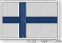 NASZYWKA - termo naszywki - FLAGA FINLANDIA - haft