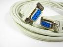 kabel przewód null modem d-sub 9pin rs232 3m DB9
