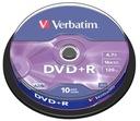 PŁYTY VERBATIM DVD+R 4,7GB 16x Cakebox 10 szt.f.va