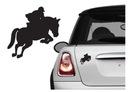 Naklejka na samochód/samochodowa - jeździec / koń