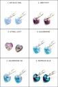 Серебряные серьги с Кристаллами Swarovski сердца 10