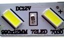 EKSTREMALNIE jasna taśma LED7030 CHIP SAMSUNG x2