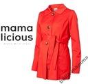 MAMA LICIOUS lekki czerwony PŁASZCZ CIĄŻOWY XL(42)