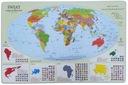 Podkładka na biurko - Mapa Polityczna Świata +dane