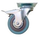 Koła 75 mm skrętne z hamulcem kółko do mebli FV