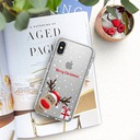 Świąteczne Etui do iPhone 7 Plus Renifer Mikołaj Funkcje pochłanianie wstrząsów