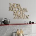 DREWNIANY NAPIS 3D - Moja kuchnia moje zasady Motyw Litery i cytaty Nowoczesne