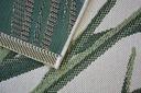 Dywan SISAL 160x230 DŻUNGLA JUNGLE LIŚCIE zi #B654 Kolor biały kremowy odcienie zieleni