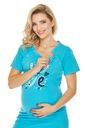 Koszula nocna ciążowa do porodu i karmienia XXL Wzór dominujący mix wzorów