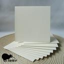 Bazy do kartek kwadratowe 13,5 cm 10 szt. kremowe