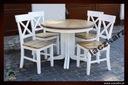 Stół drewniany prowansalski okrągły rozkładany 110