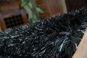 GRUBY DYWAN SHAGGY NARIN 120x170 blackmelon #GR394 Kolor czarny odcienie fioletowego