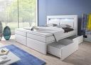 Łóżko kontynentalne MILANO 1 - szuflady 3 materace
