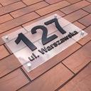 Табличка на дом, адресная Табличка НОМЕР 3D 30 x 20