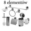 Zestaw łazienkowy 8 E.uchwyt wc szczotka wc kosz A