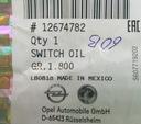 Czujnik ciśnienia oleju Insignia 2.8 ANTARA 3.2 GM Numery katalogowe zamienników 648003 12621649 648114 12621659