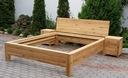 ŁÓZKO dębowe minimalistyczne szczeble 140/200 Typ łóżka ze stelażem z zagłówkiem