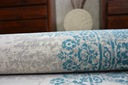 DYWAN VINTAGE 80x150 ROZETA niebieski / beż #B773 Długość 150 cm