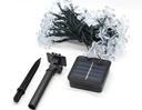 Sznur LED MSD06-05-50D FLOWER niebieski 5m+solar