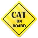 JEDYNA NAKLEJKA NA AUTO CAT ON BOARD KOT W AUCIE