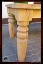 Dębowy stół, lity dąb, rustykalny toczony 180/90