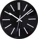 Cichy zegar ścienny Glamour połysk CZARNY 40 cm A4 Marka własna