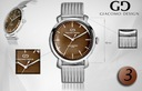 Zegarek męski Giacomo Design GD09 4 WZORY! Rodzaj paska Bransoleta