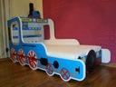 Łóżko ciuchcia, lokomotywa, pociąg, różne kolory