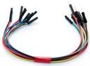 Zestaw kabli kolor zworki męsko-żeńskie 10szt