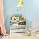 SoBuy FRG225-W Regał na książki dla dzieci, stojak Kolor wielokolorowy