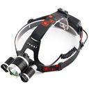 LATARKA CZOŁOWA 3 LED CREE XM-L T6 CZOŁÓWKA 2X AKU Kod producenta CZOŁÓWKA LAMPA NA GŁOWE LATARKA LAMPKA