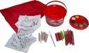 CARS zestaw plastyczny KREDA farby malowanki 2608