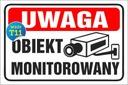 TABLICZKA - Teren MONITOROWANY 20x30 PCV 5mm | 24H EAN 9876826499134
