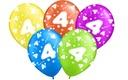 Balony na urodziny 4 CZWARTE PARTY Balon 5 szt.