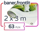Baner reklamowy - 2 x 3m;  Reklama; Banery; JAKOŚĆ