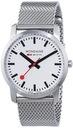 Mondaine Unisex Quartz Watch with White Dial Analo