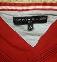 TOMMY HILFIGER świetny czerwony sweter w szpic /XL