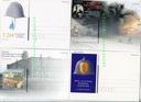 4 kartki pocztowe- pożarnictwo.Straż pożarna