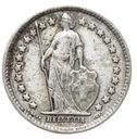 Szwajcaraia - moneta - 1/2 Franka 1920 SREBRO - 2