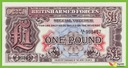 GB BRITISH ARMED FORCES 1 Pound ND/1948 PM22 UNC